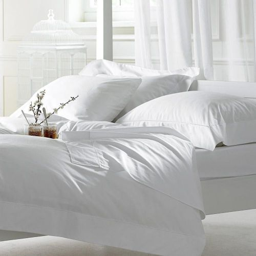 Luxury White 100% Egyptian Cotton Duvet Cover Set 400 Thread Count
